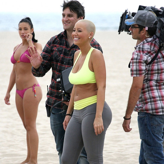 Amber Rose Spotted Filming Her New Reality Show on the Beach in Santa Monica ...
