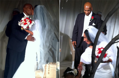 Mike Tyson And Wife Lakiha Spicer Renew Wedding Vows In