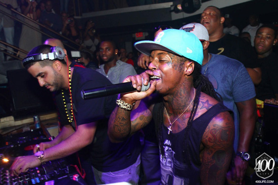 Lil Wayne Hosts Pre Game Party In Miami Beach At Club Cameo PHOTOS