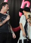 "Christina Aguilera and Adam Levine on the set of ""Moves Like Jagger"" music video in Los Angeles"