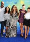 Lamar Odom with two of his kids: Lamar Jr. & Destiny, Khloe Kardashian, Kendall Jenner, Kim Kardashian, Kylie Jenner and Kourtney Kardashian