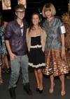 Justin Bieber, his mom Patti and Vogue Editor in Chief Anna Wintour