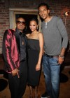 Nas, Zoe Saldana and NBA player Matt Barnes