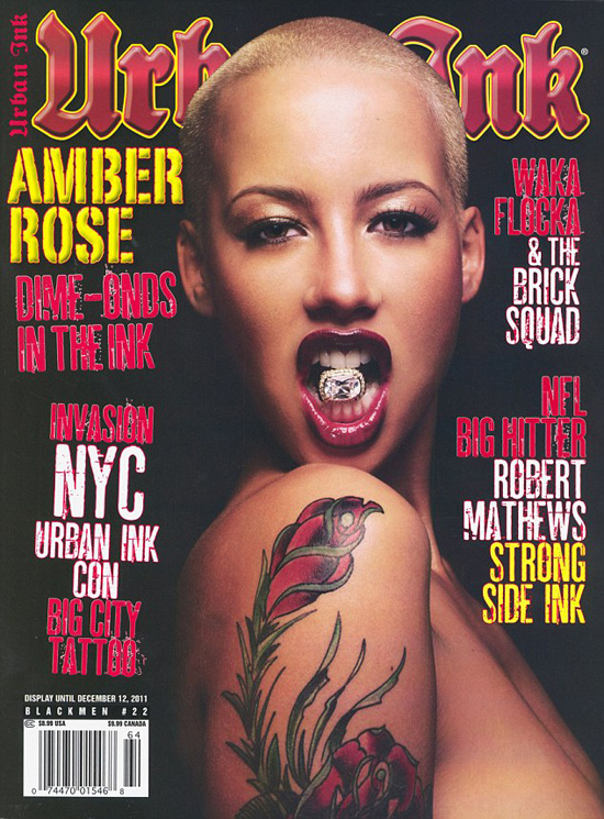 Amber Rose Shows Off Her Tattoos on the Cover of \