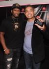 50 Cent with Motorola CEO Sanjay Jha