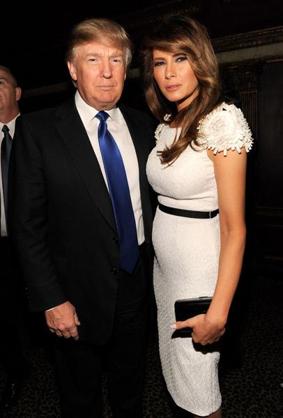 Barron Trump 2014 >> Donald Trump and his wife Melanie