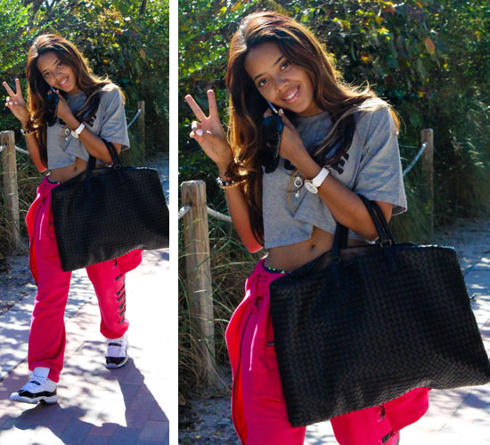 sneakers for cheap 042bc 4785d Angela Simmons Spotted in Miami Rocking the New Air Jordan ...