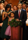First Lady Michelle, Sasha and President Barack Obama