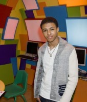 Diggy Simmons at the New York Presbyterian Morgan Stanley Children's Hospital