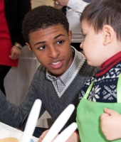 Diggy Simmons at the St. Jude Holiday party