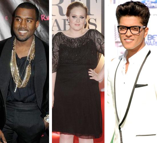 Kanye West, Adele, Bru... Kanye West