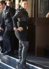 Mariah Carey outside the Dorchester Hotel in London