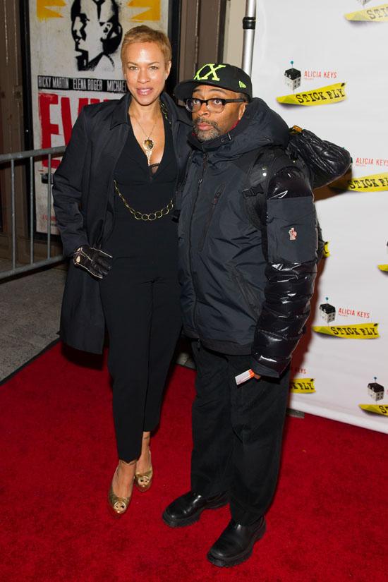 Spike Lee with wife Tonya Alicia Keys