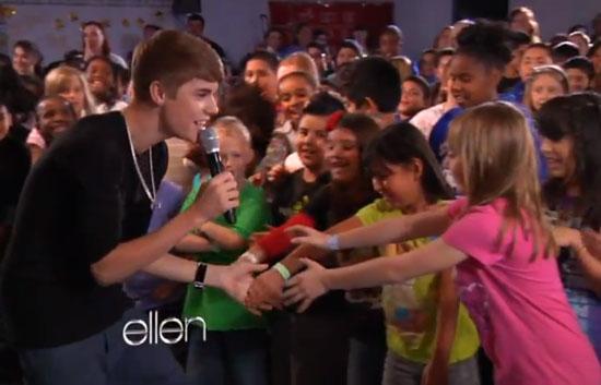 Justin Bieber Makes Heartwarming Visit to Needy Elementary