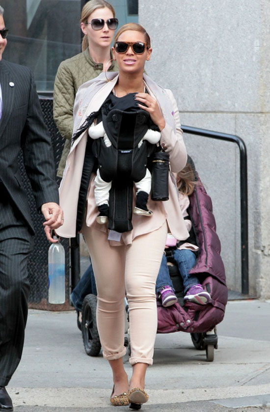 Beyonce and Baby Blue Ivy Wear Matching Shoes in New York ...