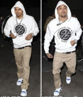 Chris Brown leaving Tru Hollywood Nightclub