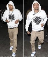 Chris Brown leaving Tru Hollywood Nightclub