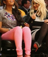Christina Milian and Christina Aguilera