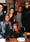 Kim Kardashian and Kanye West with Lala & Carmelo Anthony, Swizz Beatz and others