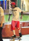 Lil Wayne and crew skateboarding