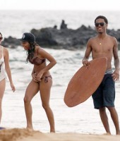 Eddie Murphy's 19-year-old son Myles with his sister Shayne (center) and a friend