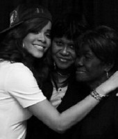 "Rihanna with her mother, and her Grandma ""Dolly"""