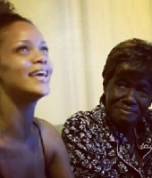 "Rihanna and her Grandma ""Dolly"""