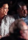Kim Kardashian and Kanye West - Marchesa fashion show - Mercedes Benz New York Fashion Week 2012