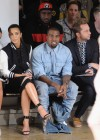 Kim Kardashian and Kanye West with Rachel Roy - Louise Goldin fashion show - Mercedes Benz New York Fashion Week 2012
