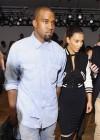 Kim Kardashian and Kanye West - Louise Goldin fashion show - Mercedes Benz New York Fashion Week 2012