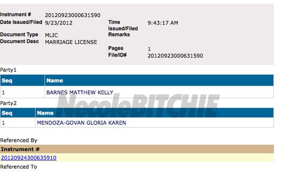Gloria Govan and Matt Barnes Secretly Married in Las Vegas?