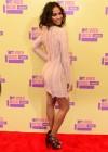 Zoe Saldana on the red carpet of the 2012 MTV VMAs