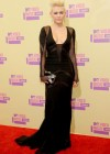 Miley Cyrus on the red carpet of the 2012 MTV VMAs