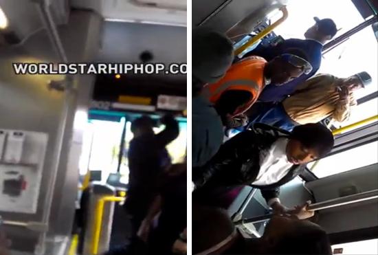 bus uppercut bus driver uppercuts disrespectful woman (video)