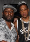 Big Daddy Kane and Jay-Z backstage at Jay-Z's Barclays Center Grand Opening concert in Brooklyn, New York (Sep 28 2012)