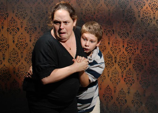 Haunted house pictures scared people