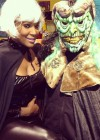 Tameka Foster Raymond and one of her sons (Halloween 2012)