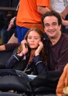 Mary Kate Olsen and boyfriend Olivier Sarkozy at New York Knicks game