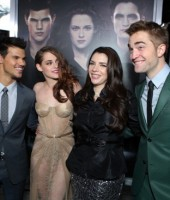 "Taylor Lautner, Kristen Stewart, ""Twilight"" author Stephenie Meyer and Robert Pattinson at L.A. premiere of ""Twilight: Breaking Dawn Part 2"""