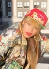 "Beyonce wearing her ""ratchet"" earrings"