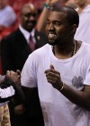 Diddy, Kanye West & Kim Kardashian at Miami Heat vs. New York Knicks basketball game