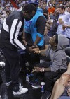Diddy, Lil Wayne & Mack Maine at Miami Heat vs. New York Knicks basketball game