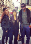 Karrueche in Paris with Ugo Mozie and friends