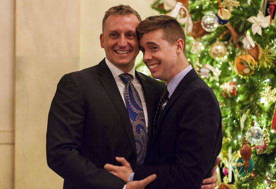 """With """"Don't Ask, Don't Tell"""" Banished, Gay Marine Proposes to His Boyfriend at the White House"""