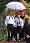 "Jay-Z and Justin Timberlake shoot ""Suit & Tie"" music video in L.A."
