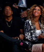Jay-Z & Beyonce at the 2013 NBA All-Star Game