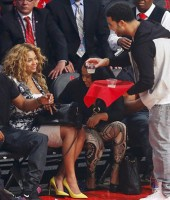 Beyonce and Jay-Z served drinks by Drake at the 2013 NBA All-Star Game