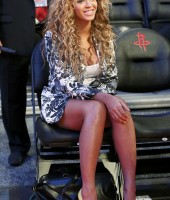 Beyonce at the 2013 NBA All-Star Game