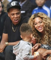 Beyonce, Jay-Z and Alicia Keys' son Egypt Dean at the 2013 NBA All-Star Game