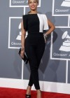 Beyonce on the red carpet at the 2013 Grammy Awards